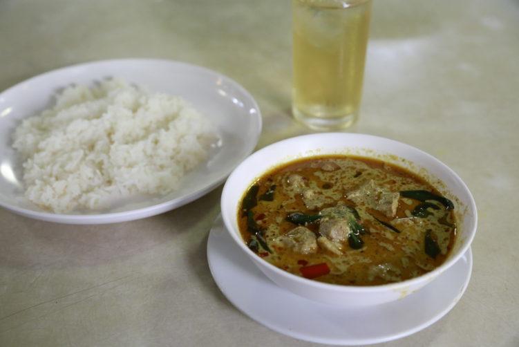 Chicken green curry at Sanguan Sri